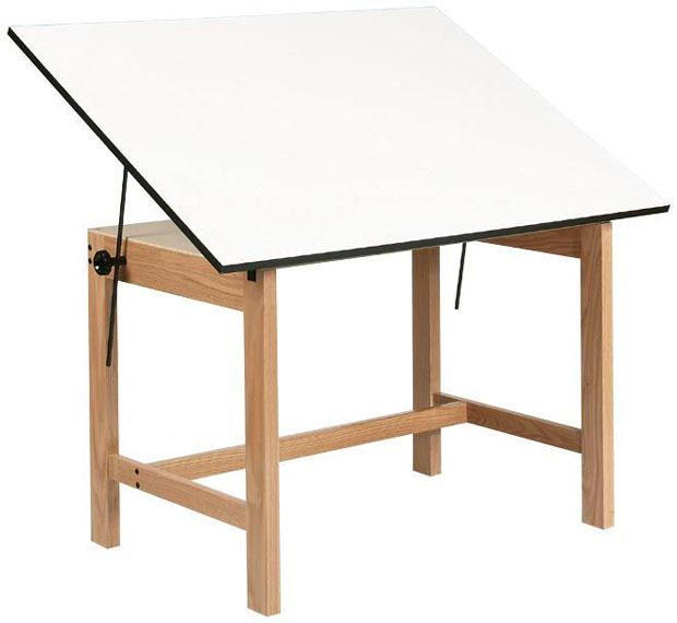 "Alvin Titan Solid Oak Table: Oak Finish, 37.5"" x 60"", 90 lbs."