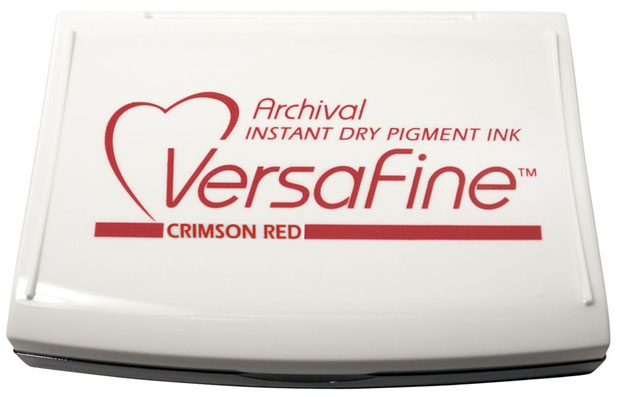 Tsukineko® Versafine Fast-Drying Pigment Ink Pad: Crimson Red