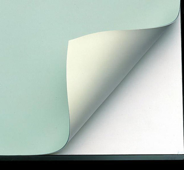 "Alvin Vyco Board Cover: Pre-Cut Sheet, Green/Cream, 48"" x 96"", 10 lbs."