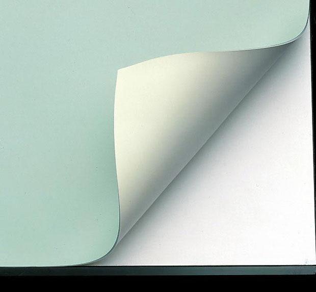 "Alvin Vyco Board Cover: Pre-cut Sheet, Green/Cream, 43.5"" x 84"", 9 lbs."