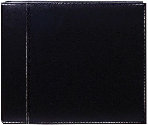 "Pioneer 12"" x 12"" 3-Ring Scrapbook Binder: Album, Black/Black Sewn"