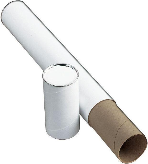 Alvin Fiberboard Mailing Tube: 43 X 3 Inches, White