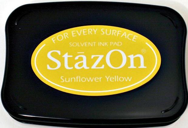 TSUKINEKO® StazOn® Ink Pad: Sun Flower Yellow