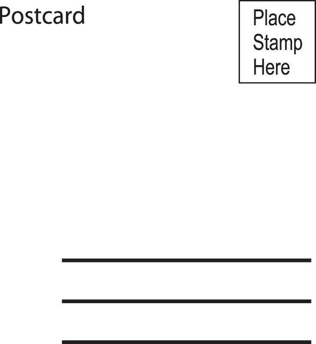 Sarasota Stamps Mounted Rubber Stamp: Postcard