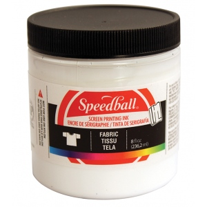 Speedball® 8 oz. Fabric Screen Printing Ink White; Color: White/Ivory; Format: Jar; Ink Type: Fabric; Size: 8 oz; Type: Screen Printing; (model 4563), price per each
