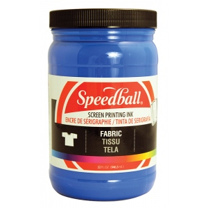Speedball® Fabric Screen Printing Ink Blue ; Color: Blue; Format: Jar; Ink Type: Fabric; Size: 32 oz; Type: Screen Printing; (model 4602), price per each