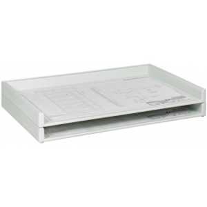 "Safco Giant Stack Tray: 2"" x 36 3/8"" x 24 1/4"", Pack of 2"