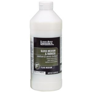 Liquitex® Gloss Medium and Varnish 32oz; Format: Bottle; Size: 32 oz; Type: Varnish; (model 5032), price per each