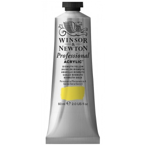 Winsor & Newton™ Artists' Acrylic Color 60ml Bismuth Yellow; Color: Yellow; Format: Tube; Size: 60 ml; Type: Acrylic; (model 2320025), price per tube