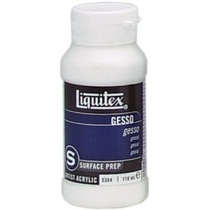 Liquitex® White Gesso 4oz; Color: White/Ivory; Size: 4 oz; Type: Acrylic Painting, Gesso; (model 5304), price per each