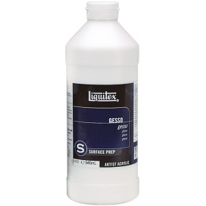 Liquitex® White Gesso 32oz: White/Ivory, 32 oz, Acrylic Painting, Gesso, (model 5332), price per each