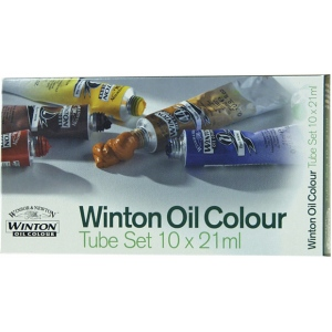 Winsor & Newton™ Winton Oil 10-Color Basic Set: Multi, Tube, 21 ml, Oil, (model 1490618), price per set