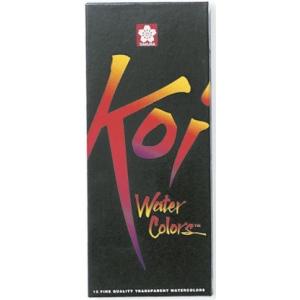 Koi™ Watercolor Paint 12-Color Set; Color: Multi; Format: Tube; Size: 12 ml; Type: Watercolor; (model 15261), price per set