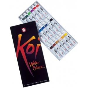 Koi™ Watercolor Paint 18-Color Set: Multi, Tube, 12 ml, Watercolor, (model 15262), price per set