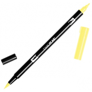 Tombow® Dual Brush® ABT Pen Pale Yellow; Color: Yellow; Double-Ended: Yes; Ink Type: Dye-Based; Tip Type: Brush Nib, Fine Nib; Type: Brush Pen; (model 56507), price per each