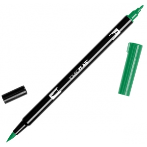 Tombow® Dual Brush® ABT Pen Sap Green; Color: Green; Double-Ended: Yes; Ink Type: Dye-Based; Tip Type: Brush Nib, Fine Nib; Type: Brush Pen; (model 56527), price per each