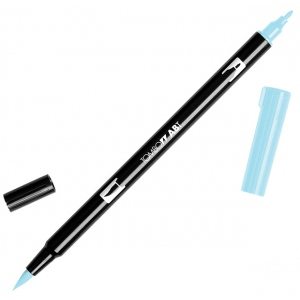 Tombow® Dual Brush® ABT Pen Sky Blue; Color: Blue; Double-Ended: Yes; Ink Type: Dye-Based; Tip Type: Brush Nib, Fine Nib; Type: Brush Pen; (model 56550), price per each