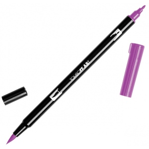 Tombow® Dual Brush® ABT Pen Purple; Color: Purple; Double-Ended: Yes; Ink Type: Dye-Based; Tip Type: Brush Nib, Fine Nib; Type: Brush Pen; (model 56574), price per each