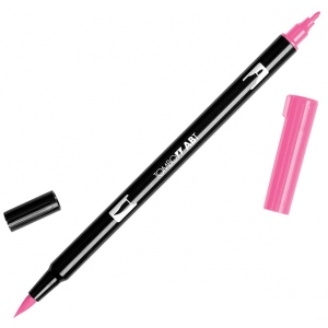 Tombow® Dual Brush® ABT Pen Hot Pink; Color: Red/Pink; Double-Ended: Yes; Ink Type: Dye-Based; Tip Type: Brush Nib, Fine Nib; Type: Brush Pen; (model 56583), price per each