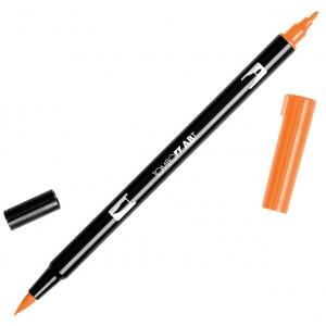 Tombow® Dual Brush® ABT Pen Scarlet; Color: Red/Pink; Double-Ended: Yes; Ink Type: Dye-Based; Tip Type: Brush Nib, Fine Nib; Type: Brush Pen; (model 56608), price per each