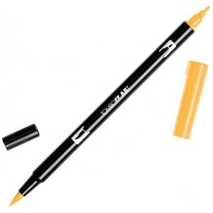 Tombow® Dual Brush® ABT Pen Chrome Orange: Orange, Double-Ended, Dye-Based, Brush Nib, Fine Nib, Brush Pen, (model 56620), price per each