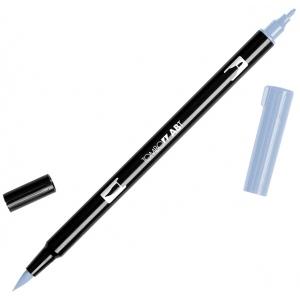 Tombow® Dual Brush® ABT Pen Cool Gray 6: Black/Gray, Double-Ended, Dye-Based, Brush Nib, Fine Nib, Brush Pen, (model 56636), price per each