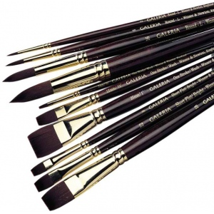 Winsor & Newton™ Galeria™ Flat Long Handle Brush #4; Length: Long Handle; Material: Synthetic; Shape: Flat; Type: Acrylic; (model 5736004), price per each