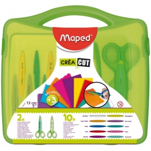"Maped® 12-Piece Craft Scissors Set; Color: Assorted; Cut Length: 5""; Type: Scissors; (model 601010), price per set"