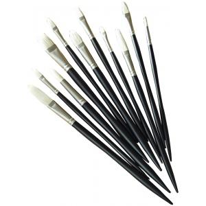 Winsor & Newton™ Artists' Oil Bright Long Handle Brush #2; Length: Long Handle; Material: Bristle; Shape: Bright; Type: Oil; (model 5901002), price per each