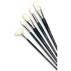 Winsor & Newton™ Winton Round Long Handle Brush #3: Long Handle, Bristle, Natural Hair, Round, Oil, (model 5975703), price per each