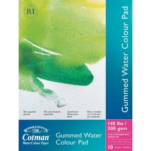 "Winsor & Newton™ Cotman™ Watercolor Paper 9"" x 12""; Binding: Fold Over; Format: Pad; Size: 9"" x 12""; Texture: Cold Press; Type: Watercolor; Weight: 140 lb; (model 6656570), price per pad"