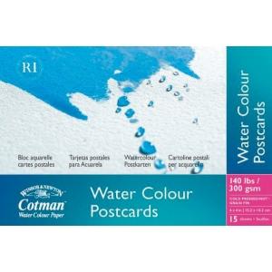 "Winsor & Newton™ Cotman™ 4"" x 6"" Watercolor Cold Press Paper Postcard Pad ; Format: Postcard; Size: 4"" x 6""; Texture: Cold Press; Type: Watercolor; Weight: 140 lb; (model 6917091), price per pad"