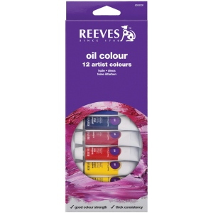 Reeves™ 10ml Oil Color Paint 12-Color Set; Color: Multi; Format: Tube; Size: 10 ml; Type: Oil; (model 8594300), price per set