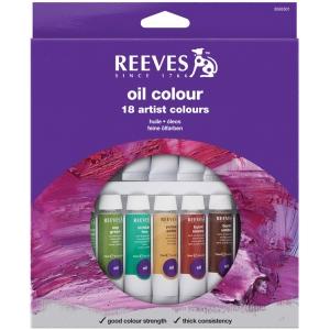 Reeves™ 10ml Oil Color Paint 18-Color Set; Color: Multi; Format: Tube; Size: 10 ml; Type: Oil; (model 8594301), price per set