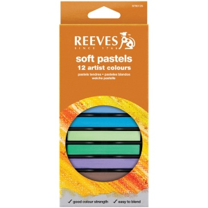 Reeves™ Soft Pastels 12-Color Set; Color: Multi; Format: Stick; Type: Soft; (model 8790125), price per set