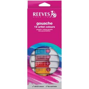 Reeves™ 10ml Gouache Watercolor Paint 12-Color Set: Multi, Tube, 10 ml, Gouache, (model 8793350), price per set