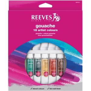 Reeves™ 10ml Gouache Watercolor Paint 18-Color Set; Color: Multi; Format: Tube; Size: 10 ml; Type: Gouache; (model 8793351), price per set
