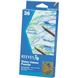 Reeves™ Watercolor Pencil 36-Color Set: Multi, Watercolor, (model 8920136), price per set