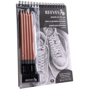 Reeves™ Sketch On The Go Graphite Set: Black/Gray, Drawing, (model 8940001), price per set