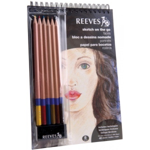Reeves™ Sketch On The Go Faces Set; Color: Multi; Type: Drawing; (model 8940004), price per set