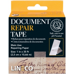 """Lineco® Document Repair Tape; Type: Mounting; Width: 1""""; (model 9010198), price per each"""