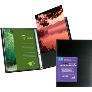 """Itoya® Art Profolio® Advantage 5"""" x 7"""" Presentation/Display Book; Color: Black/Gray; Material: Polypropylene; Page Count: 24 Pages; Size: 5"""" x 7""""; (model AD245), price per each"""