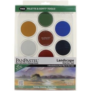 PanPastel® 7-Color Pastel Set Landscape Starter; Color: Multi; Format: Pan; Type: Soft; (model PP30072), price per set