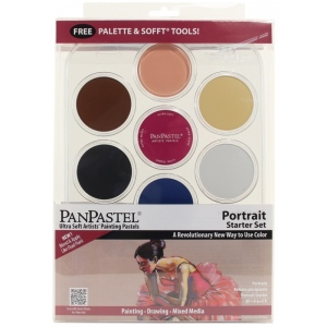 PanPastel® 7-Color Pastel Set Portrait Starter; Color: Multi; Format: Pan; Type: Soft; (model PP30073), price per set