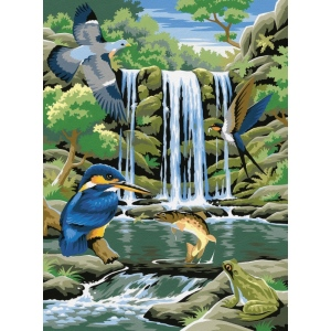"Reeves™ Medium Painting By Numbers Set Waterfall: 9"" x 12"", (model PPPNJ30), price per each"