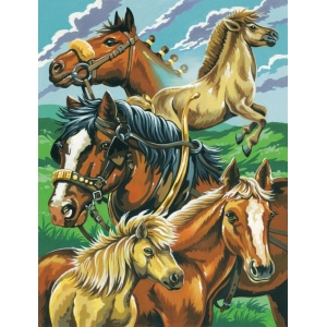 "Reeves™ Medium Painting By Numbers Set Horse Montage: 9"" x 12"", (model PPPNJ37), price per each"