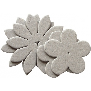 Blue Hills Studio™ Irene's Garden™ Chipboard Die-Cut Stack Pack Set H; Color: Black/Gray; Material: Chipboard; Size: 55 mm - 62 mm, 75 mm - 80 mm; Type: Dimensional; (model BHS47), price per pack