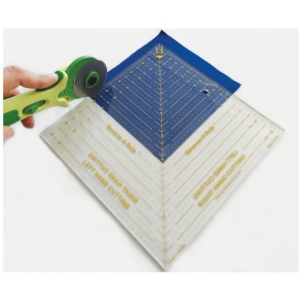 """Quint Reverse-A-Rule™ 9 1/2"""" x 9 1/2"""" Square; Material: Plastic; Size: 9 1/2"""" x 9 1/2""""; Style: Manual; Type: Ruler; (model QSTD95), price per each"""