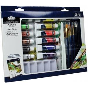 Royal & Langnickel® Essentials™ 21-Piece Acrylic Painting Set: Multi, Tube, 12 ml, Acrylic, (model RD844), price per set