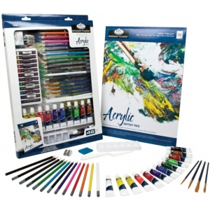 Royal & Langnickel® Essentials™ Deluxe Acrylic Mixed Media Art Set; Color: Multi; Format: Tube; Size: 12 ml; Type: Acrylic; (model RD854), price per set